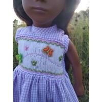 Handmade dress with hand embroidery For Vintage Sasha Dolls 16-17""