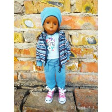 Jacket, T-shirt, Pants and Hat! For Vintage Sasha Dolls 16-17""