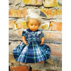Handmade dress with hand embroidery For Vintage Sasha Dolls 12""